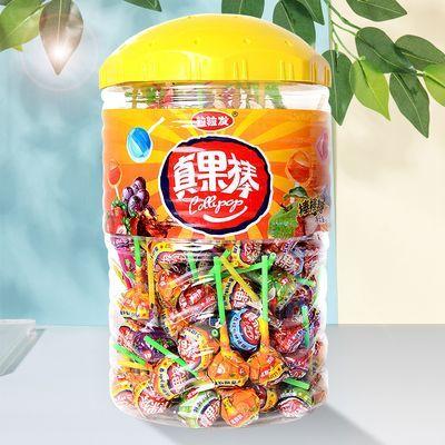 棒棒糖批发货罐装150支混装水果味30支散装孩子零食装礼包真果棒