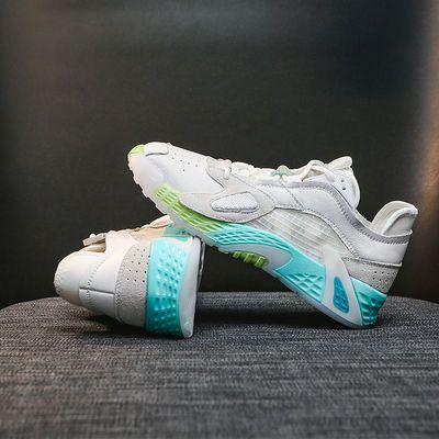 透气运动鞋女2020年春季新款女士休闲鞋老爹鞋子女夏厚底彩虹鞋