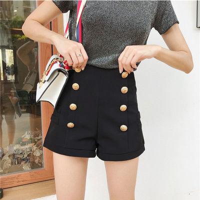 【夏款】裤子女学生韩版宽松2020新款时尚高腰显瘦百搭阔腿短裤潮