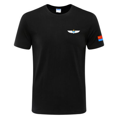 2020军旅风航空飞行表演队男女圆领短袖T恤衫精梳棉爱国军迷战友
