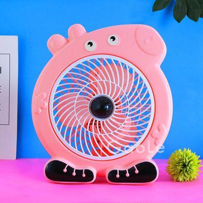 艾美特电风扇家用小型台式空气循环扇办公室桌面涡轮对流迷你静音