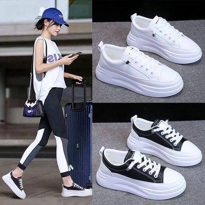 韩版百搭女学生鞋小白鞋运动鞋厚底松糕鞋运动休闲鞋2020春季新款