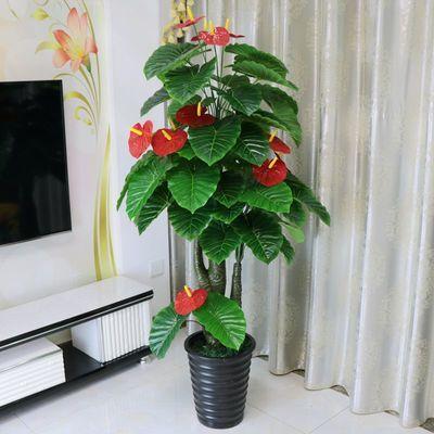 仿真树假树发财树客厅室内装饰大型落地盆栽盆景植物塑料假花绿植