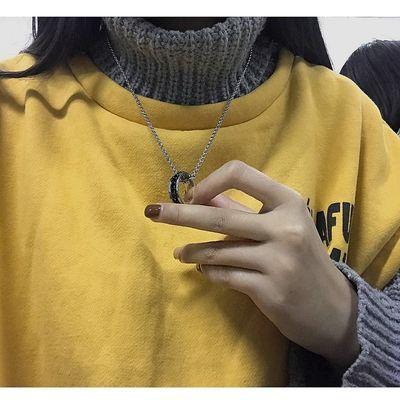 钛钢不掉色个性霸气潮人戒指项链男颈链女韩版学生吊坠刻字百搭潮