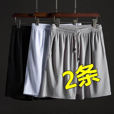 冰丝短裤男夏季薄款宽松运动速干五分裤居家休闲沙滩裤男士大裤衩