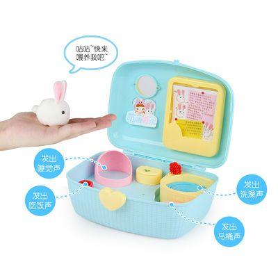 小伶玩具可爱小鸡养成屋仿真萌宠物男女孩儿童过家家套装生日礼物