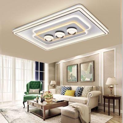 客厅灯现代简约大气led吸顶灯家用长方形灯房间卧室大厅吊顶灯具