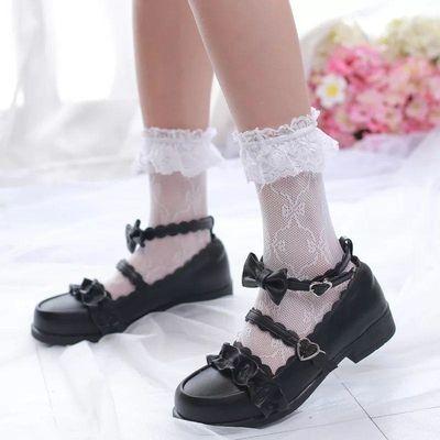 低跟梅露露绵羊泡芙原创Lolita鞋日系花边圆头学生鞋