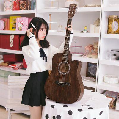 民谣吉他初学者41寸38寸新手练习琴成人男女学生木吉他乐器入门