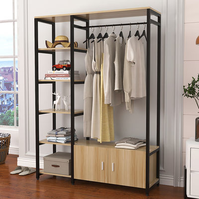 卧室衣帽架简易挂衣架落地收纳创意衣柜欧式家用客厅置物架晾衣架
