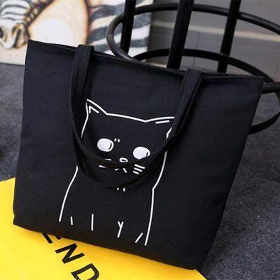 韩版帆布包文艺女包单肩简约休闲学生大容量手提袋购物袋大包包
