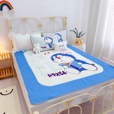波点兔卡通哆啦A梦折叠夏季乳胶凉席三件套空调软席1.5m1.8米席子