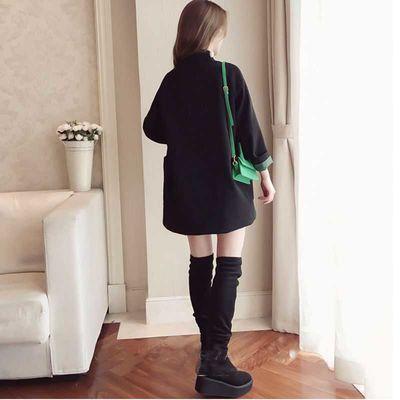 ins网红小西装女外套黑色2020春秋韩版气质宽松百搭双排扣小西服