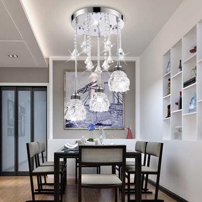 卧室吊灯温馨浪漫餐桌灯客厅灯大气水晶吊灯现代简约个性家用灯具