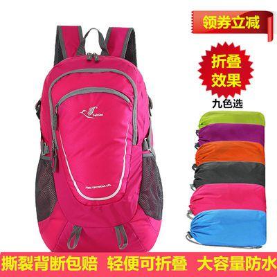 轻便旅游双肩包女户外运动包旅行背包男大容量登山包防水折叠收纳