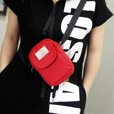 新款尼龙防水手机包休闲大容量斜挎包装卡零钱袋小清新便携单肩包