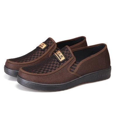 正品老北京布鞋男士单鞋春夏款商务休闲透气低帮中老年父亲布鞋子