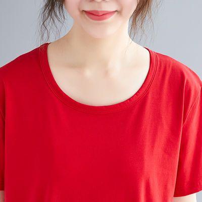 纯棉短袖t恤女春装薄款搭t女春季恤ins合作印花韩版女新款修身彩