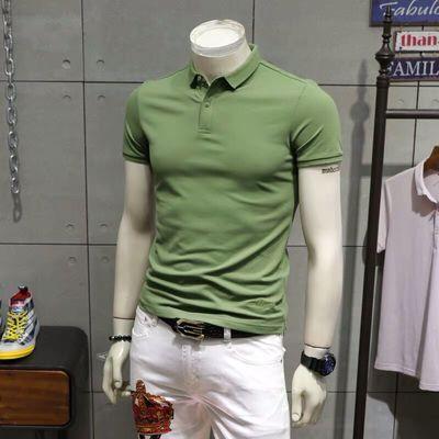男装 2020夏季新品纯色百搭学院风短袖POLO衫ins翻领短袖T恤男潮