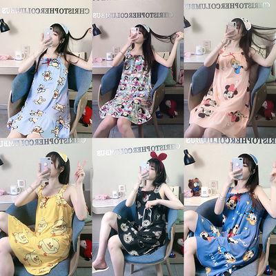 【带胸垫】吊带睡裙女夏季性感睡衣可爱甜美学生少女夏天卡通家居