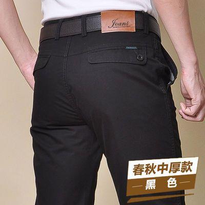 美国苹果纯棉新夏季休闲裤男士宽松直筒西裤薄款男装潮百搭长裤子