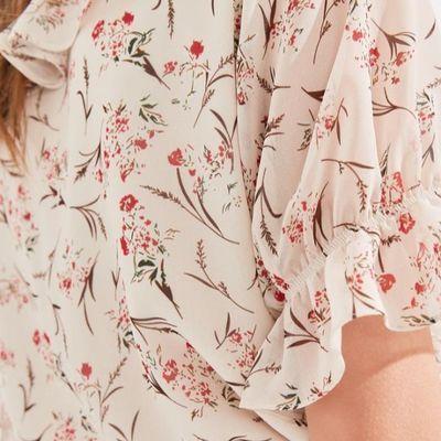 秋水伊人碎花连衣裙套装休闲气质半身裙夏季2020年新款雪纺衬衫潮