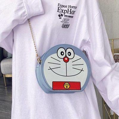哆啦a梦包包女包叮当猫可爱卡通机器猫少女单肩斜挎包潮多啦爱梦