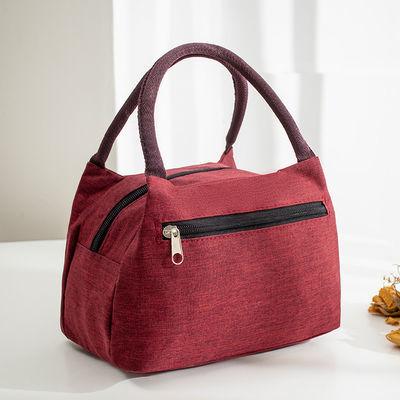 韩版小布饭盒小布包杨树林女手提布包包包餐包方包饭盒袋水手便当