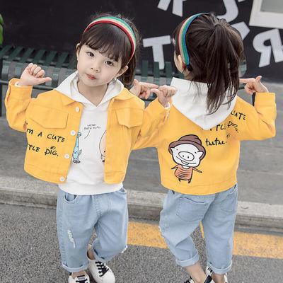 女宝宝春装三件套套装洋气女童牛仔外套婴儿小童春季衣服新款韩版