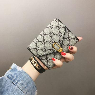 钱包女长款学生新款欧美女长款钱包搭扣复古时尚大牌女士钱包手包