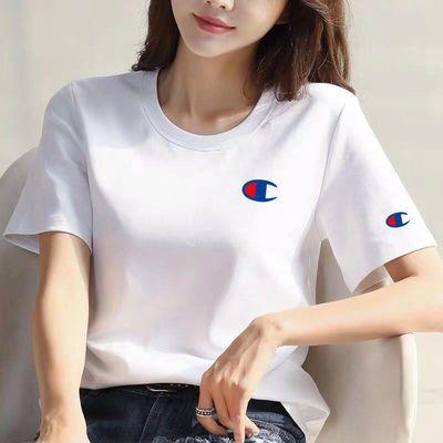 中纯棉打底撞色恤搭纯棉短袖t恤女衣服t夏装合作韩版女士女新款