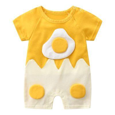 纯棉男女宝宝连体衣夏季短袖新生婴儿衣服哈幼童装0-369个月一2岁