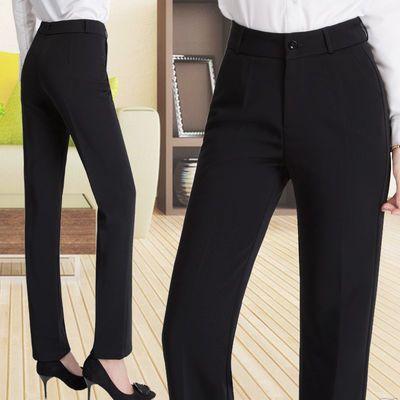 新款高腰西装裤女职业黑色工装长裤正装西裤女工装裤垂感直筒裤女