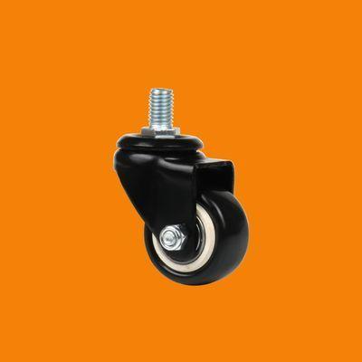 静音耐磨PU聚氨酯脚轮工业万向轮家具滑轮平板轮子轱辘滚轮丝杆卡