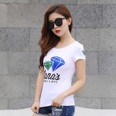 女刺绣春季地素雏菊韩版潮恤图案系列新款合作春装夏季纯棉短袖t