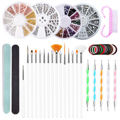 美甲笔笔刷美甲工具套装绘画笔点钻笔刷子指甲彩绘笔渐变笔10件套