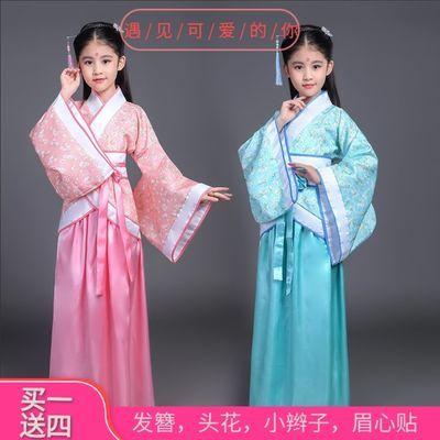 【买一送四】儿童古装汉服女唐装女童古装仙女装表演服古代