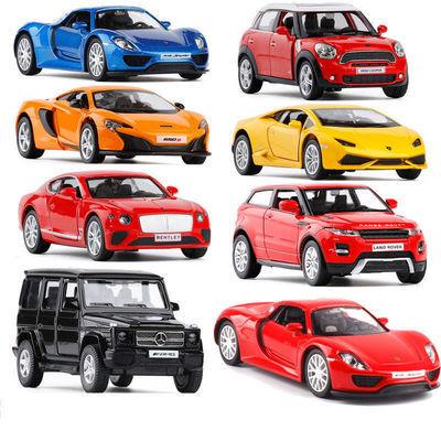 合金车模仿真汽车模型玩具车无声光回力模型小汽车儿童玩具男孩
