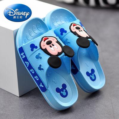 迪士尼儿童凉拖鞋男童夏季室内浴室洗澡防滑家居软底家用米奇托鞋
