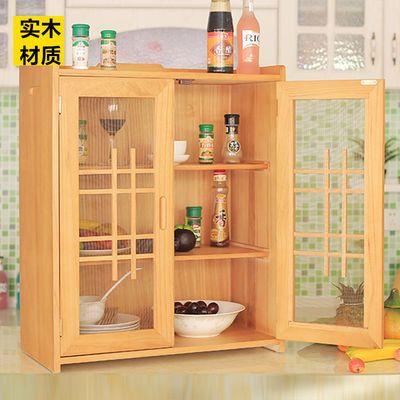 实木碗柜厨房分层收纳橱柜家用简易柜餐边柜简约经济型放碗多功能