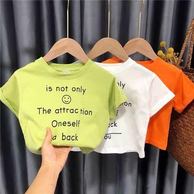 儿童短袖t恤宽松2女童上衣休闲女宝宝体恤2020年夏季男童1洋气3岁