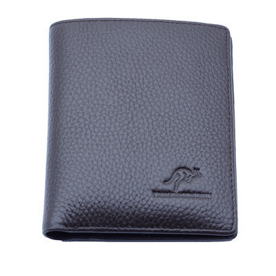 袋鼠钱包 男士短款真皮正品 头层牛皮横款潮钱夹商务男包包皮夹