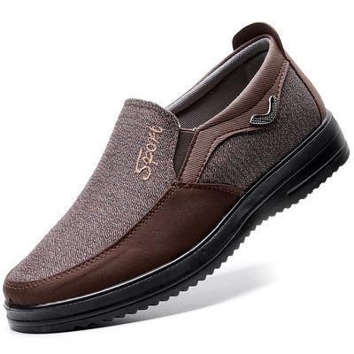 老北京布鞋中老年爸爸鞋防臭休闲鞋男单鞋春父亲宽松软底防滑大码