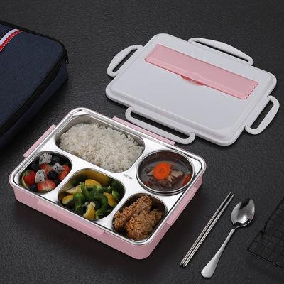 大号304不锈钢饭盒五格学生保温分隔饭盒食堂防烫餐盒便携便当盒