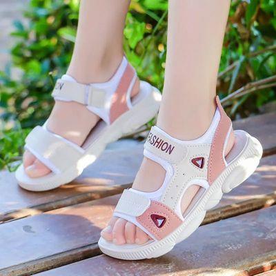 女童凉鞋儿童凉鞋女2019夏季新款女童小孩小童防滑软底男童沙滩鞋