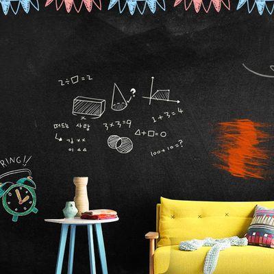 家用儿童黑板贴白板贴黑板墙教学涂鸦墙膜可擦写自粘墙贴纸可移除