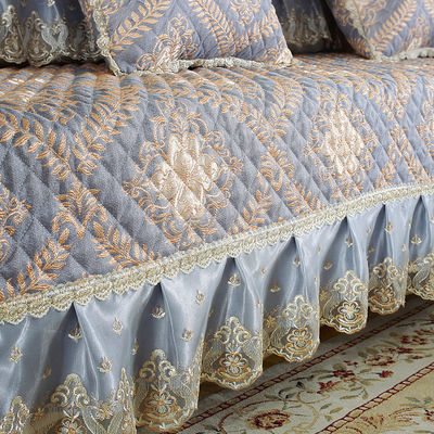 高档沙发垫布艺欧式防滑刺绣组合沙发垫子四季通用坐垫靠背罩巾套
