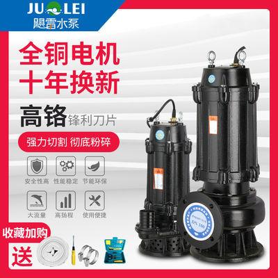 无堵塞220v污水泵化粪池抽粪机家用高扬程潜水泵农用大流量抽水机