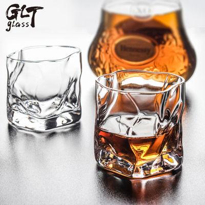 家用日式威士忌水晶酒杯烈酒洋酒杯创意不规则玻璃水杯加冰酒杯子