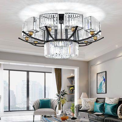 新款客厅吸顶灯简约现代家用卧室灯餐厅灯大气轻奢水晶灯大厅灯具
